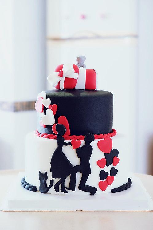 Marry Me Fondant Cake