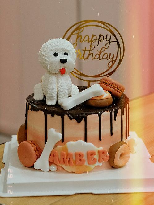 White Doggie Cream Cake
