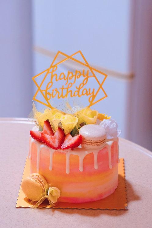 Fruits Macaroon Cake