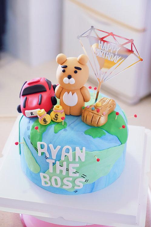 Ryan the Boss Fondant Cake