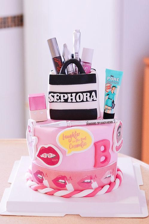Sephora x Benefit Fondant Cake