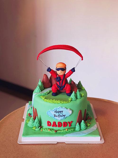 Paragliding theme Cake