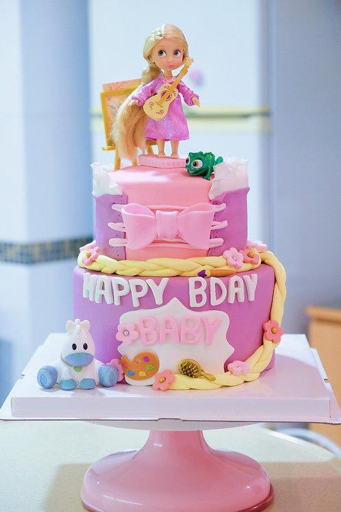 Rapunzel Fondant Cake