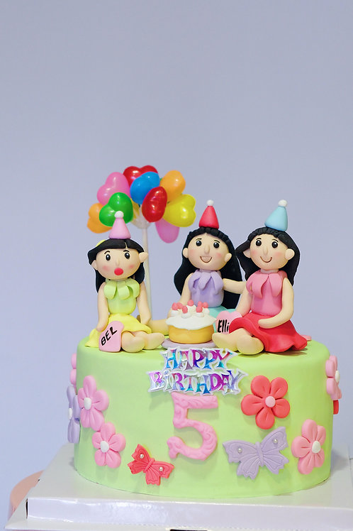 The Flower Fairies - Fondant Cake