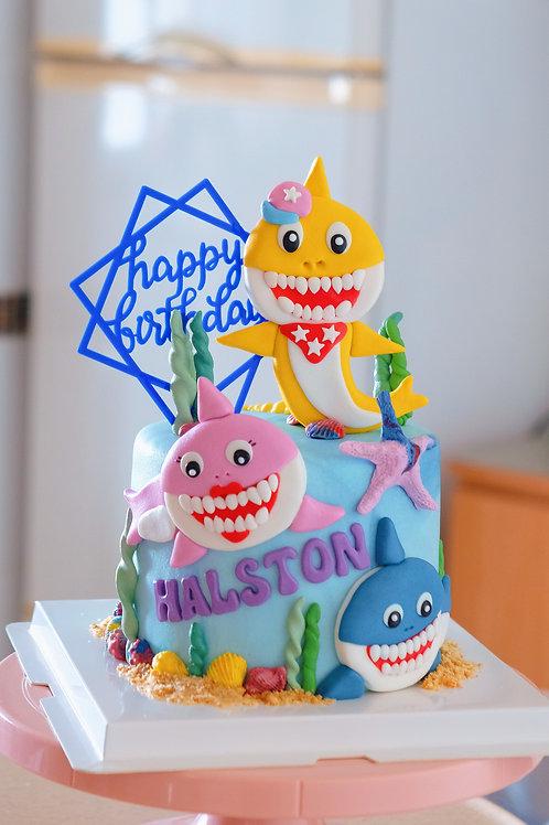 Baby Sharks Cake