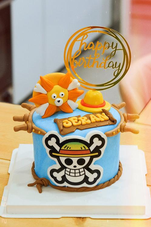 One Piece Fondant Cake