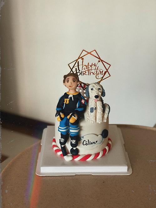 Ice Hockey with Doggie Cake
