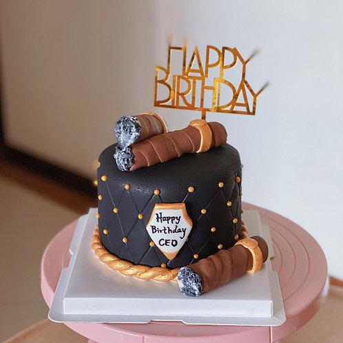 Cigar Fondant Cake