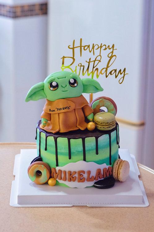 Baby Yoda Cream Cake