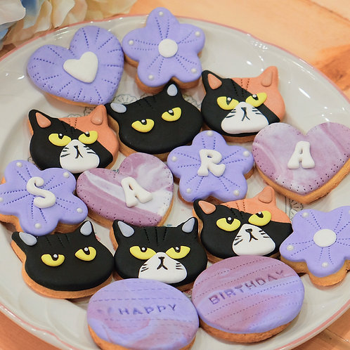 Kittens and Floral Cookies
