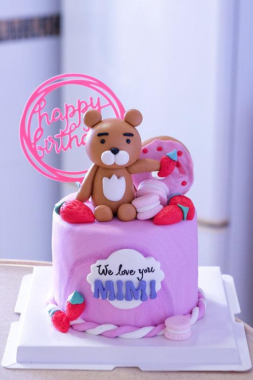 Ryan Bear Fondant Cake