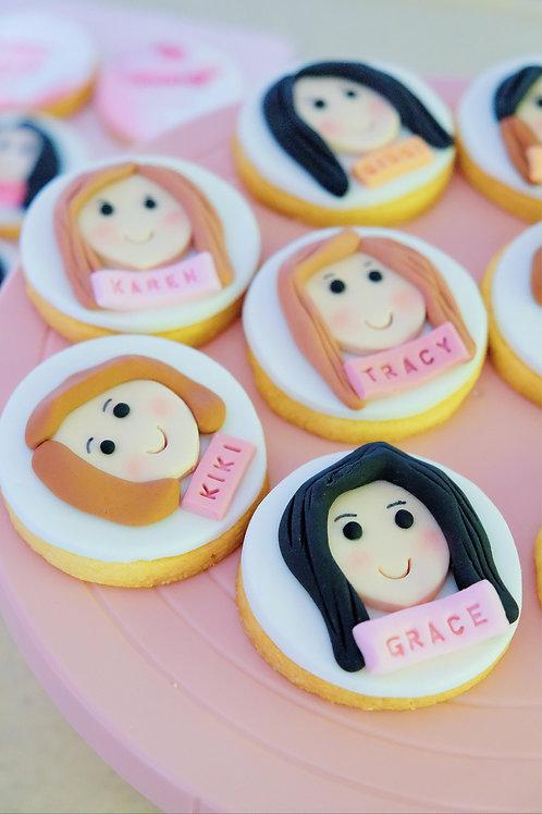 Customized Fondant Cookies