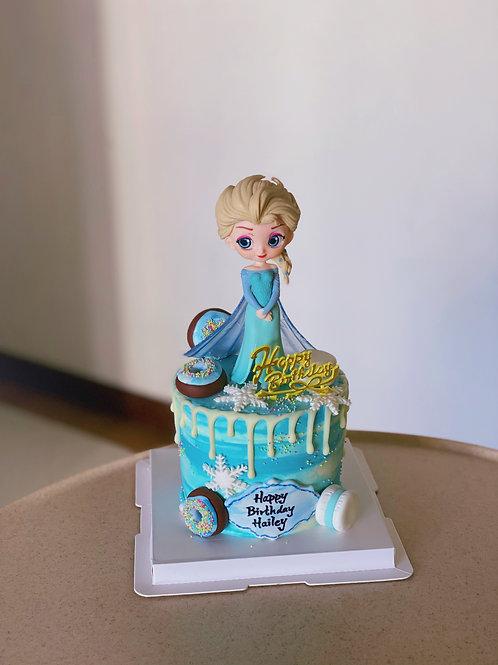 Elsa Cream Cake