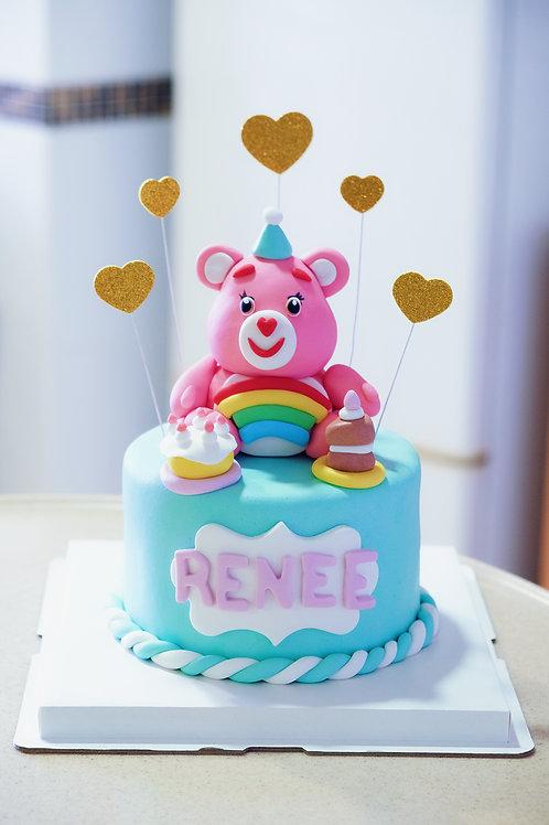 Care Bear Fondant Cake