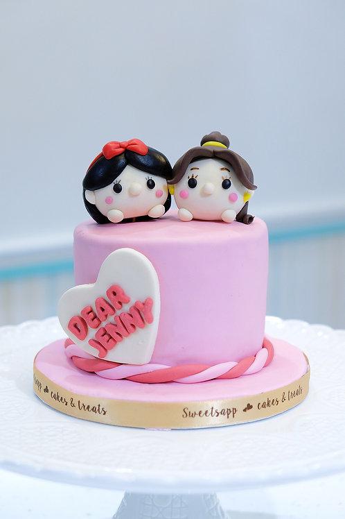 Dear Princess - Fondant Cake