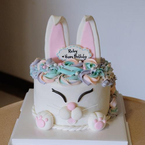 Bunny Fondant Cake