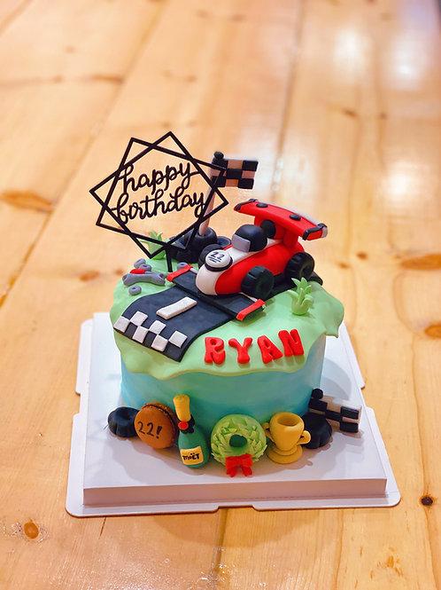 Race Car Fondant Cake