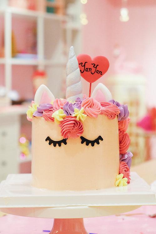 Unicorn Buttercream Cake