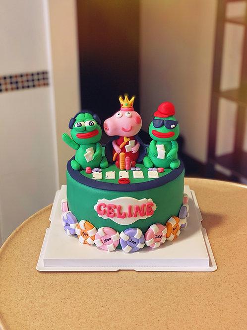 Pepe Peppa Poker Cake