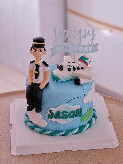 Pilot & Cathay Fondant Cake