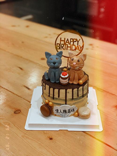 Cats Cream Cake