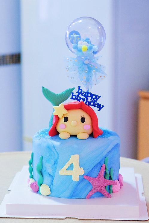 Ariel Fondant Cake