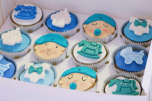 Blue Baby Cupcakes
