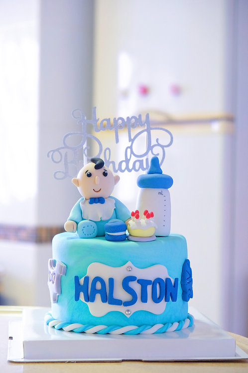 Baby Boy Fondant Cake