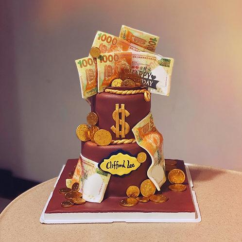 Money Themed Cake
