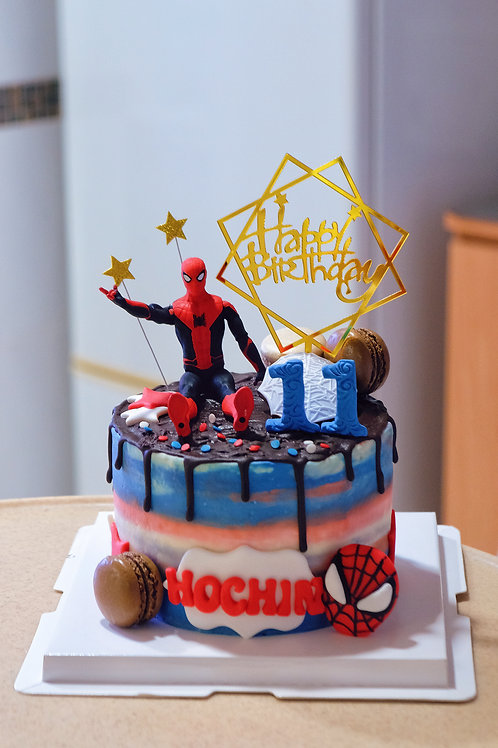 Spiderman Cream Cake