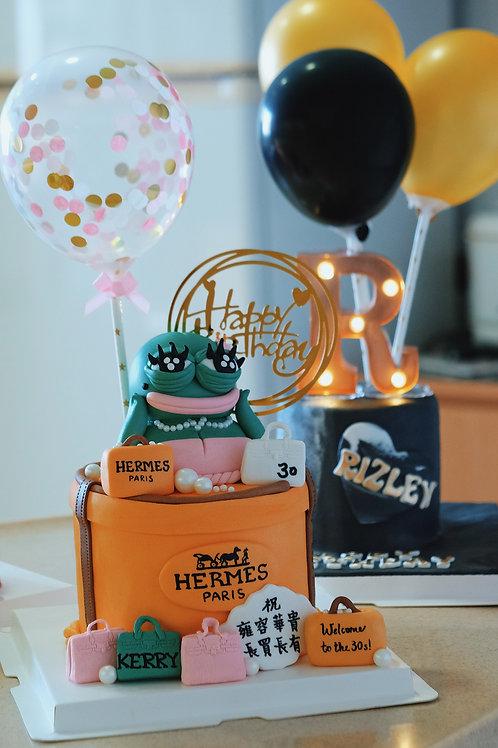 Pepe Frog Hermes Giftbox Cake