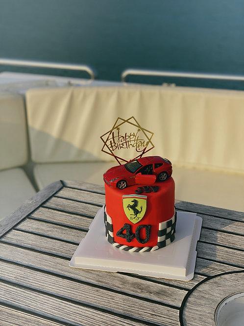 Ferrari Fondant Cake