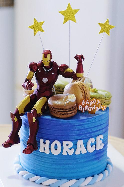 Ironman & Macaroon Cake