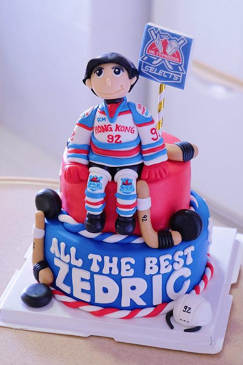 Ice Hockey Fondant Cake