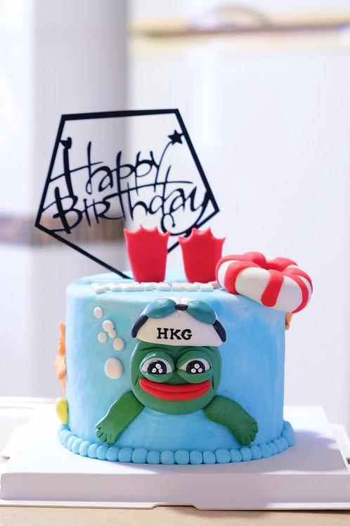 Pepe Frog Cake