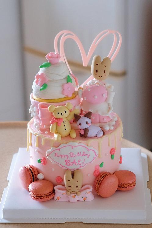 Miss Macaron Theme Cake