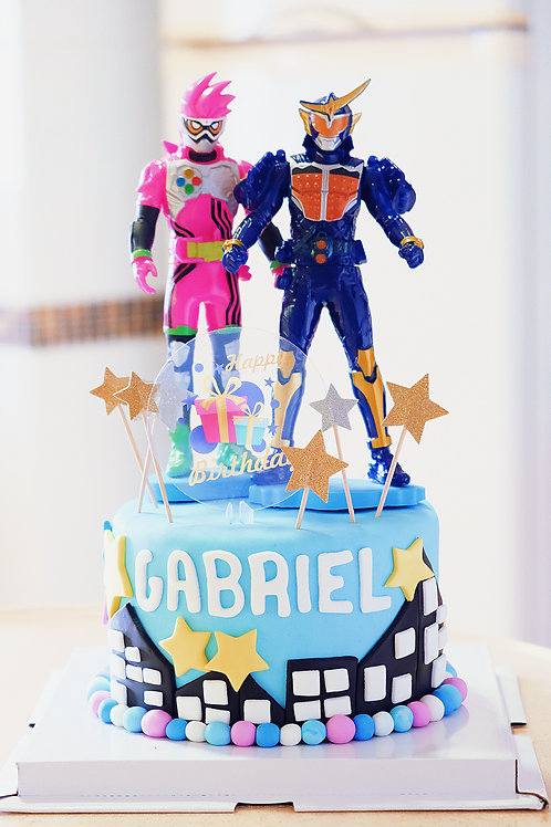 Super Heroes Fondant Cake