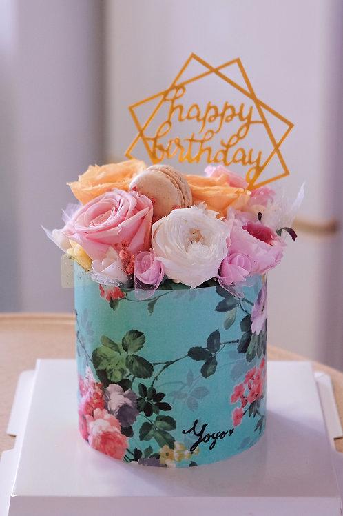 Floral Print Cake