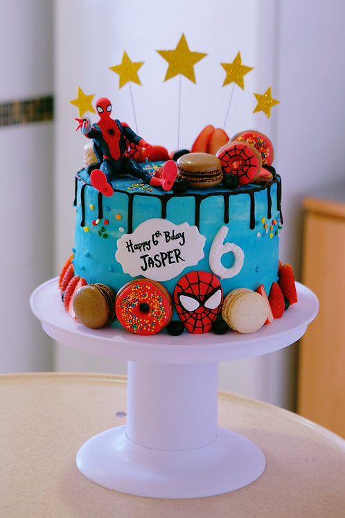 Spiderman Cake (with the cake popping stand)
