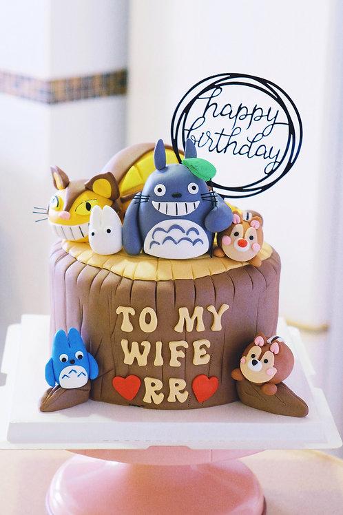 龍貓 貓巴士 Fondant Cake