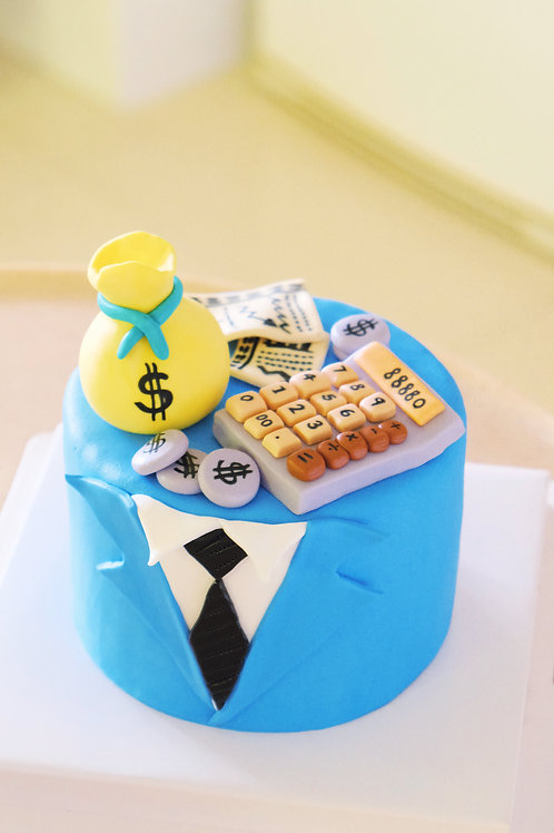 Financial Man Fondant Cake