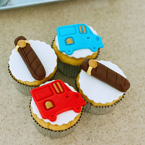 Car and Cigar Cupcakes