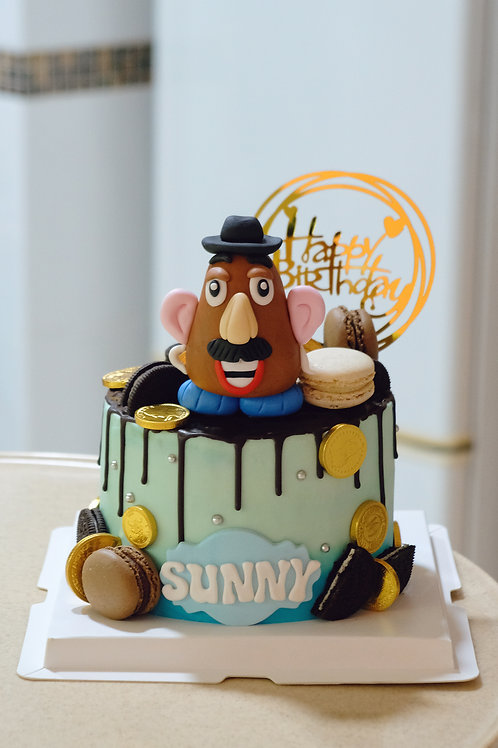 Potato Head Cream Cake