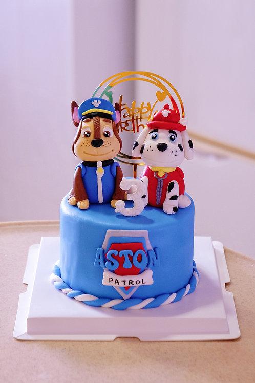 Pet Patrol Fondant Cake