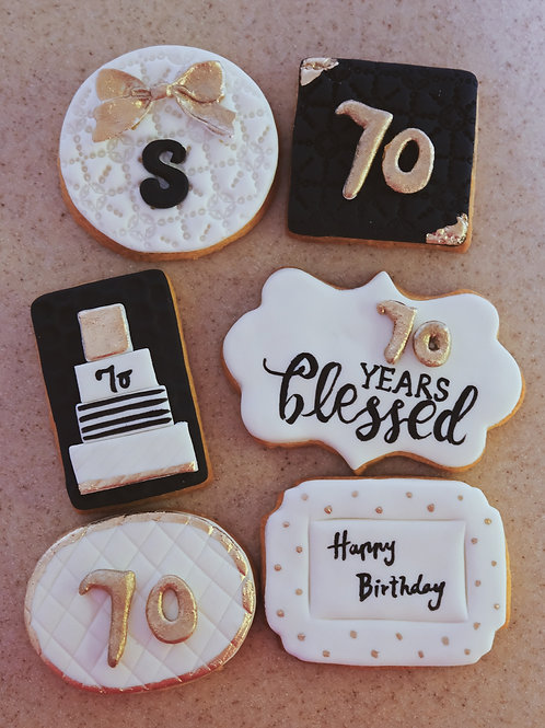 70 Birthday Cookies