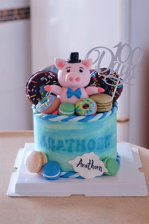 Piggie & Donut Cake