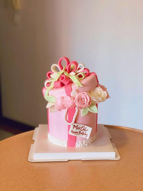 Flower Box Fondant Cake