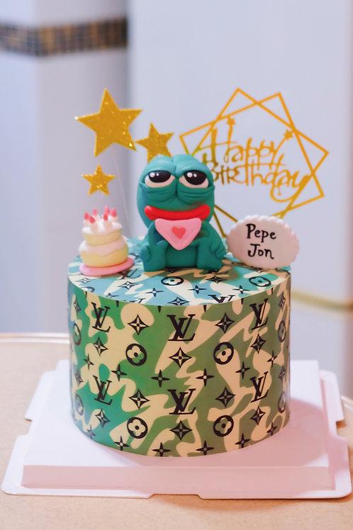 Pepe the Frog Cake