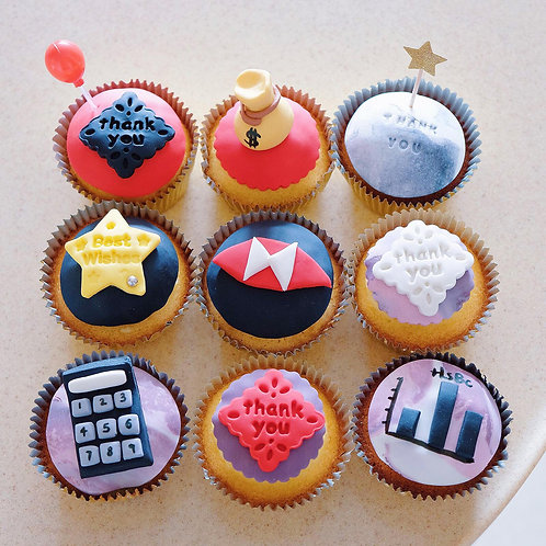 HSBC Themed Vanilla Cupcakes