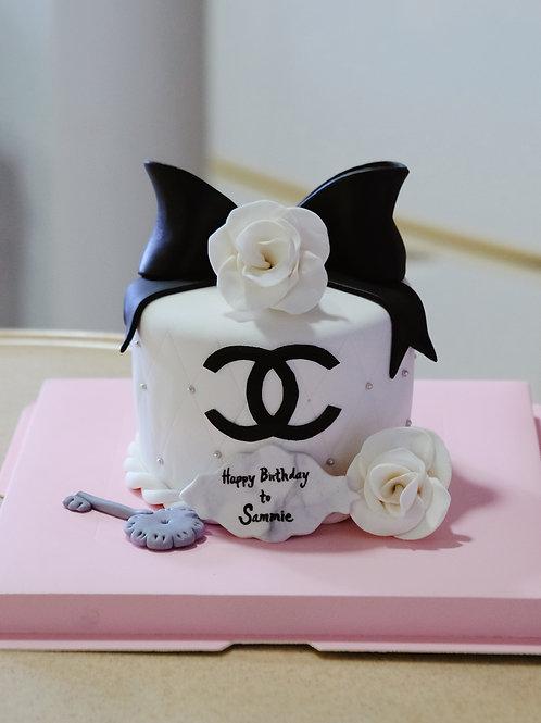 Chanel Ribbon Cake